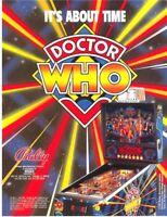 Doctor Who Pinball FLYER Original NOS Bally Game Art 1992 Daleks Tardis Sci-Fi