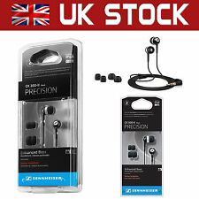 Sennheiser CX300-II In-Ear Only Headphones Noise Isolating Deep Bass - Black
