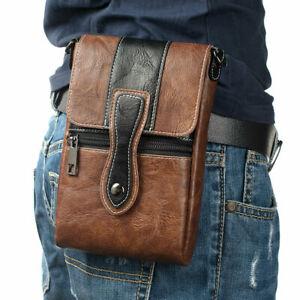 Luxury Leather Wallet Belt Loop Zipper Pocket Cigarette Pouch Bag New Waist Pack