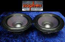 """2x Tieftöner ISOPHON PSL 265/180 Bass 4Ohm 26cm Vintage 10,5"""" Woofer Low-Speaker"""