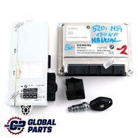 BMW E60 520i M54 170HP Engine Control Unit ECU Kit DME 7527072 + CAS2 Key Manual