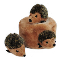 Zippy Paws Interactive Burrow Dog Toy - Hedgehog Den with Squeaky Hedgehogs