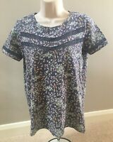 LADIES NEXT PRETTY DITSY PRINT FLORAL TEE SHIRT T SHIRT TOP SIZE 8 HARDLY WORN