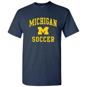 Michigan Wolverines Arch Logo Soccer T-Shirt - Navy