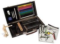 Beginners Artist Box Set Sketching Pad & Drawing Pencils Manikin Model Art S3000