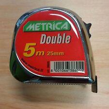 Metrica 5m Double Stop Tape Measure Brand New