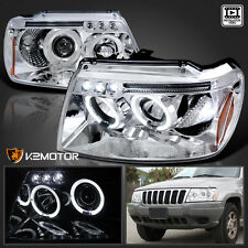 1999-2004 Jeep Grand Cherokee LED Halo Projector Headlights Pair