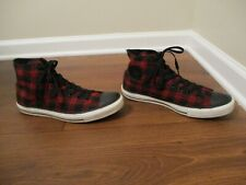 Used Size 11 Fit Like 11.5 - 12 Converse Chuck Taylor All Star High Shoes Plaid