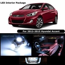 6PCS Cool White LED Bulbs Interior Kit for 2012 - 2015 Hyundai Accent