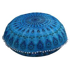 Cover Round Mandala Floor Pillow Cushion Case Decor Room Pouf Pom Indian Ottoman