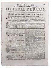 États Généraux 1788 M d'Ormesson Nicolaï Narbonne Rare Journal de Paris