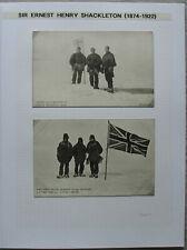 S2078) Ernest Hauteur Shackleton Autographe + 3 Image Post Cartes Ex Collection