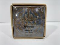 PIER 1 Set Of 4 Square Ceramic Coasters New & Sealed Glazed Finish Free Shipping