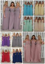 Multiway Chiffon Convertible Bridesmaid Dress Wedding Evening Prom Maxi Formal