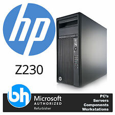 HP Z230 Desktop Tower PC Quad Core i5-4570 3.2GHz 16GB RAM 500GB CMT 4th Gen