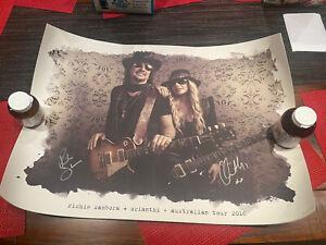 RICHIE SAMBORA & ORIANTHI Hand SIGNED Australian 2016 TOUR POSTER RSO Bon Jovi