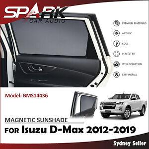 MAGNETIC CAR WINDOW SUN SHADE BLIND REAR DOOR FOR ISUZU D-MAX DMAX 2012-2019 CT