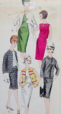 Vogue Pattern 6161 Fab Vtg 60s SHEATH DRESS, BOX JACKET VARIATIONS Size 16