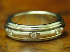 Piaget 18kt 750 Weißgold Ring mit 0,21ct Brillant Besatz / Diamant / 7,9g RG 48