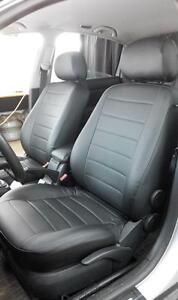 VW Passat CC-par De Frente De Lujo Beige y Negro cubiertas de asiento de coche