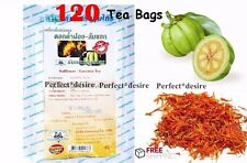 120 TEA BAGS GARCINIA CAMBOGIA WITH SAFFLOWER ORGANIC WEIGHT LOSS SLIMMING DIET.