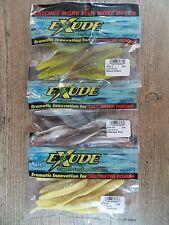"New listing 3 Pkgs Mister Twister Saltwater 5"" Exude Rt Slug - Saltwater Jerk Bait - Fishing"