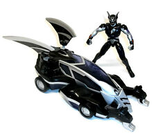 "Power Rangers Jungle Fury 10""  Car & 5"" Black Ranger toy figure set, RARE"