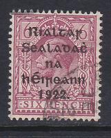 IRELAND 1922 6d REDDISH PURPLE SG 14 FINE USED.