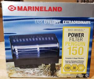 Power Filter MarineLand Penguin Bio-Wheel 20-30 Gallon 150 GPH Mechanical Black