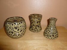 Partylite Multifunction leopard Candle Holder # P9159 set of 3 New In Box