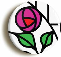 ART DECO ROSE BADGE BUTTON PIN (Size is 1inch/25mm diameter) RENNIE MACKINTOSH