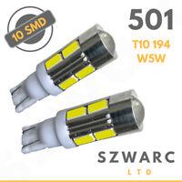 10 Smd Led 501 T10 W5w Push Wedge Capless Bright White Side Light Bulbs Uk 801