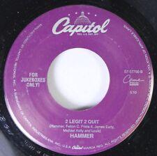 Rap 45 Hammer - 2 Legit 2 Quit / 2 Legit 2 Quit On Capitol