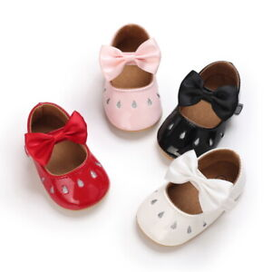 Newborn Baby Girl Princess Crib Shoes Toddler Wedding Party Dress Outfit Shoes