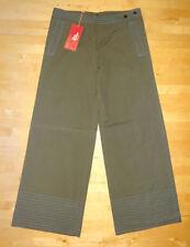 Wide Leg Cotton Rise 34L Trousers for Women