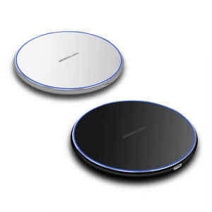 15W Qi Wireless Charger Fast Charging Mat Pad Metal For i Phone 11 Pro Max XS XR