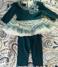 Isobella Chloe Outfit Girls Set Pant Ruffled Boutique Size 6 Months Fall Tulle