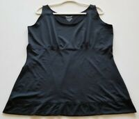 Spanx Women's Tank Top 3X Plus Black Scoopneck Stretch Sleeveless Popover Casual