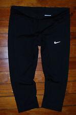 Women's Nike DriFit Reflective Tech Compression Capri Running Pants (Medium)