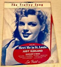 1944 SHEET MUSIC THE TROLLEY SONG MARTIN/BLANE JUDY GARLAND MEET ME IN ST LOUIS