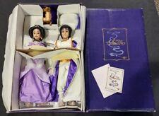 Walt Disney Store Exclusive LE Aladdin Princess Jasmine Porcelain Doll Set NRFB
