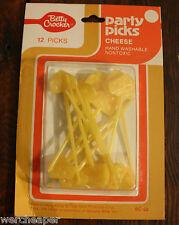 VINTAGE BETTY CROCKER PARTY PICKS CHEESE 12 PCS NEW IN SEALED PACKAGE