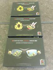3 MONSTERVISION MAX3D GLASSES & UNIVERSAL 3D EYEWEAR STATER KIT- RF TRANSMITTER