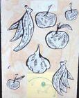 """Donald Baechler """"Fruits IV"""" Modern American Art 35mm Glass Slide"""