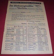 dachbodenfund versandhaus katalog mitteilung westfalia werkzeug co hagen  1953