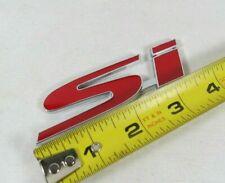 HONDA CIVIC Si EMBLEM 02-15 REAR TRUNK RED/CHROME BADGE back sign symbol logo