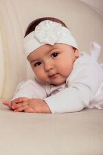 Baby Newborn Headband White Christening Headband Toddler Baptism Infant Headband