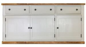 Handmade Rustic 3 Door Kitchen Base Unit. Freestanding Kitchen Furniture.