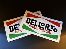 2 x Dellorto Stickers Race & Rally Car Stickers.