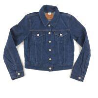 LEVI'S Ladies/Juniors Blue Denim Button Front Short Jean Jacket Size Small